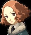 P5 portrait of Haru Okumura's winter attire
