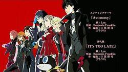 "Persona 5 The Animation Ending 2 ""Autonomy"""