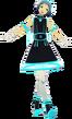 P3D Fuuka Yamagishi Neon Dress