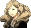 P5 Portrait of Ann smiling while crying