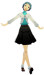 P3D Fuuka Yamagishi summer school uniform