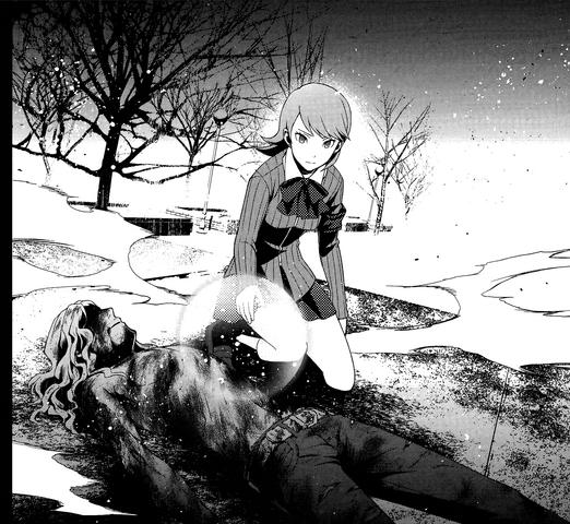 File:P3 manga Takaya's burnt body after being burn alive by Trismegistus.png