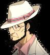 P5 portrait of Sojiro Sakura's casual attire with hat