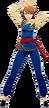 P3D Yukari Takeba Blue KungFu Outfit