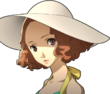 P5 portrait of Haru Okumura's swimsuit