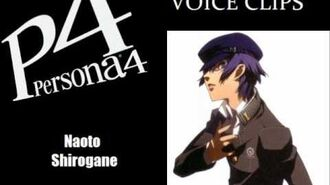 Persona 4 Naoto Shirogane Voice Clips