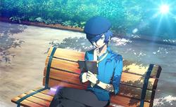 Naoto reading