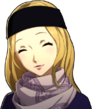 P5R Portrait Chihaya Winter Smiling