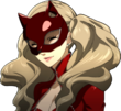 P5 of Ann in her Phantom Thief form smiling