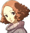 P5 portrait of Haru Smiling