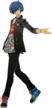 P3D the protagonist initial costume