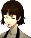 P5 Portrait of Makoto Frowning