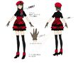 P4D Official Visual Visual Book Original Stage Costume for Yukiko