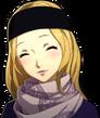P5R Portrait Chihaya Winter Blushing