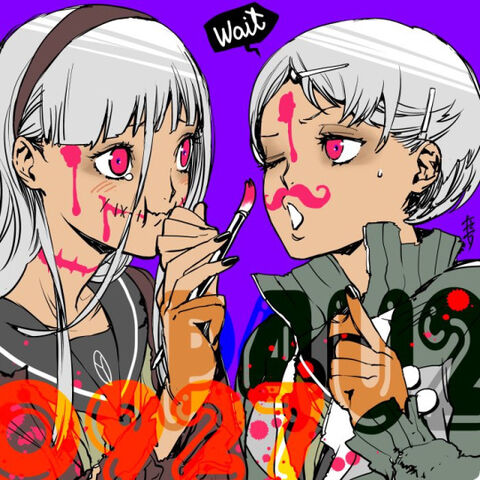 File:P4AU Illustration Halloween 2016 of Chie and Yukiko by Rokuro Saito.jpg