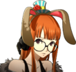 P5 portrait of Futaba Sakura with rabbit ears
