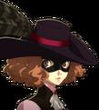 P5 portrait of Haru Okumura's phantom thief outfit
