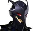 P5R Portrait Black Mask Disgusted