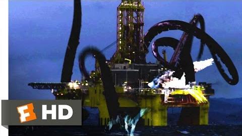 Mega Shark vs. Giant Octopus (1 10) Movie CLIP - Oil Rig Obliteration (2009) HD