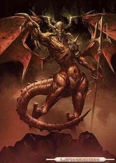 El demonio senalando