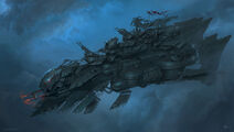 1600x906 16521 Marauder heavy airship 2d steampunk airship picture image digital art