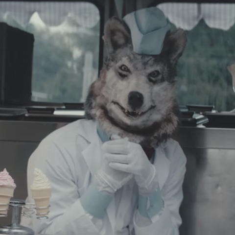 The wolf in the <i>Tag, You're It</i> part of the double feature.