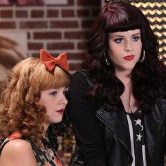 Caitlin with Melanie on <i>The Voice</i>.