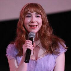Elita at the premiere of <i>K-12</i>.
