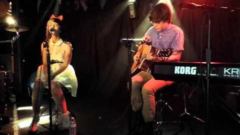 "Melanie Martinez and MacKenzie Bourg performing ""Stay"" by Rihanna ft"