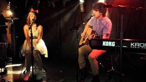 "Melanie Martinez and MacKenzie Bourg performing ""Give Me Love"" by Ed Sheeran"