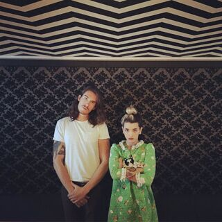 Melanie and CJ Baran in the studio on the day the song was recorded.
