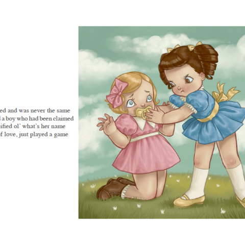Basic Bitch in the <i>Cry Baby</i> Story Book.