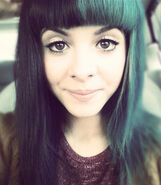 Melanie-martinez-teal-black-hair-straight
