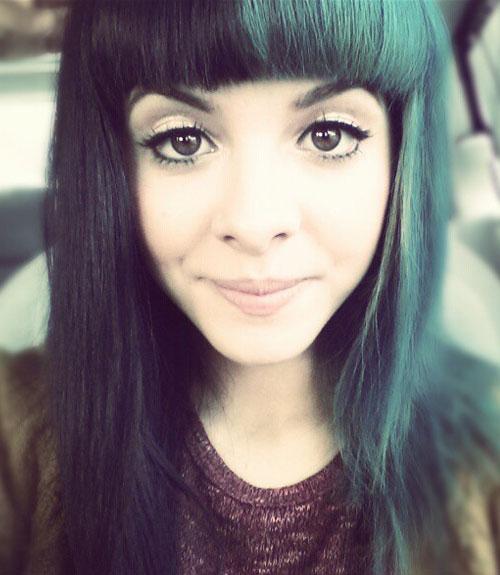 Super Image - Melanie-martinez-teal-black-hair-straight.jpg | Melanie  EX48