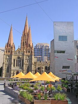 448px-St Paul's Cathedral View from Federation Square