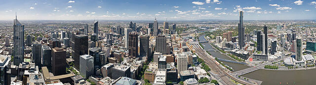 File:Melbourne Skyline from Rialto Equirectangular Crop - Nov 200.jpg