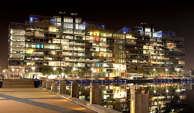 File:800px-Victoria Harbour Offices at Night.jpg