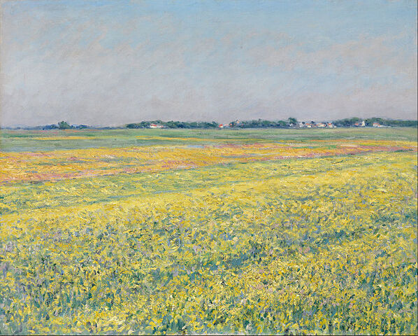 File:Gustave Caillebotte - The plain of Gennevilliers, yellow fields - Google Art Project.jpg