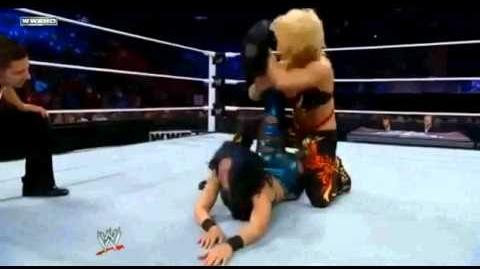 Melina loses her boot in a Submission!