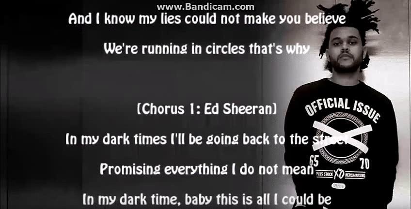 The Weeknd - Dark Times.Times (lyrics)