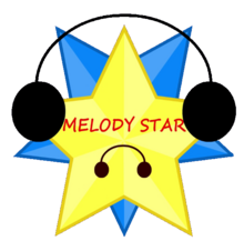 Melody star logo in object oppose