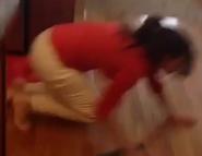 She hit the floor