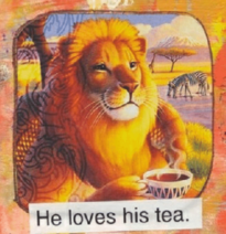 He loves his tea