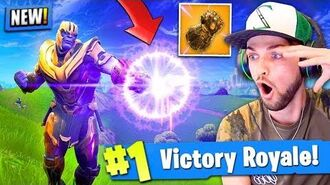 *NEW* THANOS GAMEPLAY in Fortnite- Battle Royale! (INFINITY GAUNTLET)