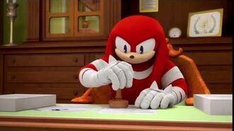 Meme Approved Knuckles but he stamped too hard