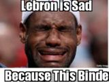 Lebron is sad