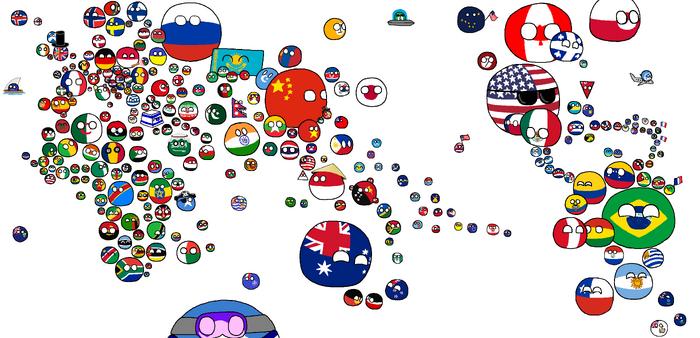 World map Polandball