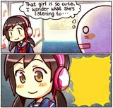 That Girl Is So Cute, I Wonder What She's Listening To