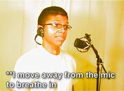I move away from the mic to breathe in