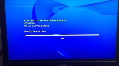 "Error CE-34878-0. ""Gracias por tanto"", Sony."